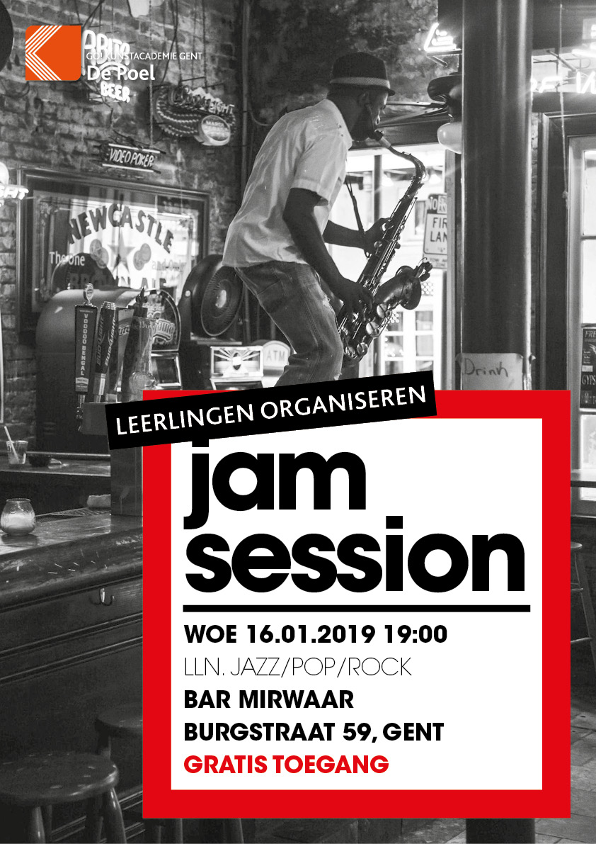 Jam Session Leerlingen organiseren deze jam session